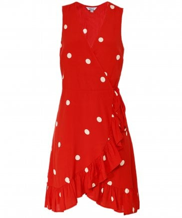 Rails Women's Madison Scarlet Dots Wrap Dress