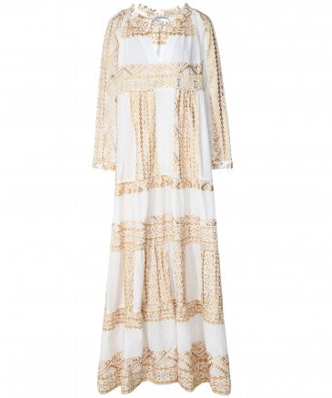Kori Women's Embroidered Maxi Dress