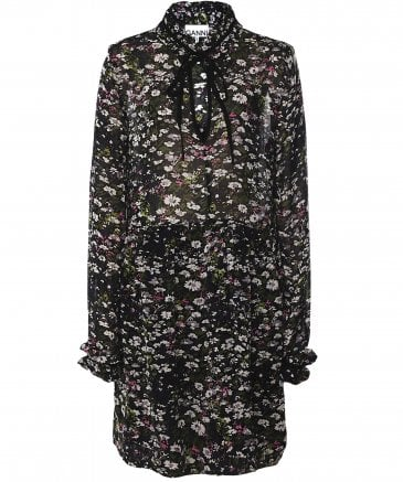 Ganni Women's Floral Print Georgette Dress