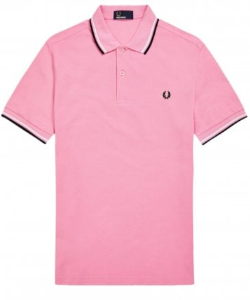 a59b5c785 Fred Perry Pink Twin Tipped Polo ...