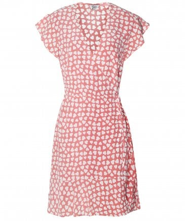 Rails Women's Silk Leanne Heart Print Wrap Dress