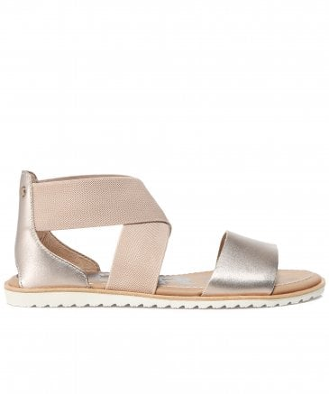 Sorel Women's Metallic Leather Ella Sandals