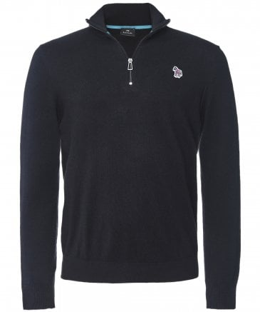 PS by Paul Smith Men's Half-Zip Zebra Jumper