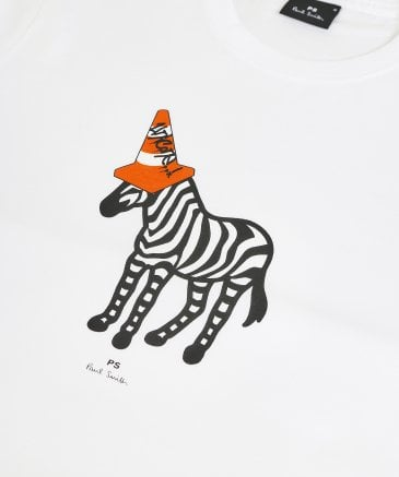 PS by Paul Smith Men's Organic Cotton Zebra Cone T-Shirt