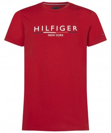Tommy Hilfiger Men's Organic Cotton Underline Logo T-Shirt