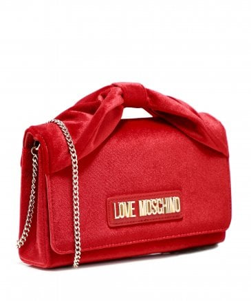 Love Moschino Women's Velvet Bow Chain Bag