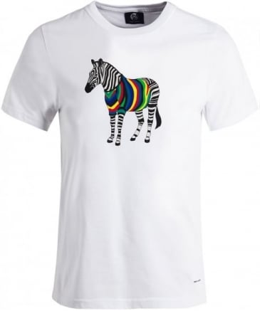 Crew Neck Zebra T-Shirt