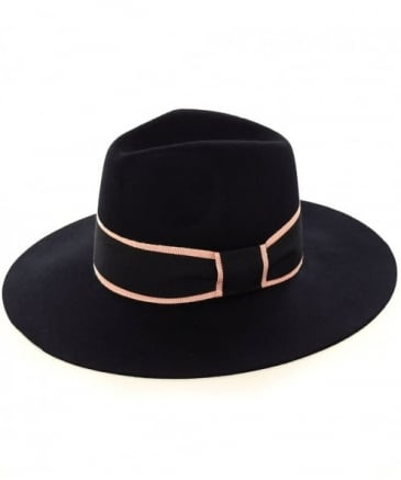 Trimmed Wool Trilby Hat