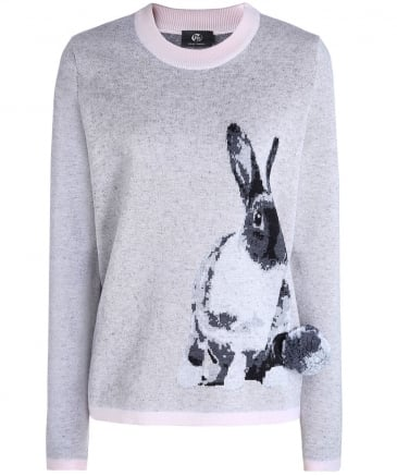 Wool Rabbit Pom Pom Jumper