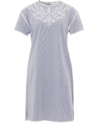 Embroidered Sahara T-Shirt Dress