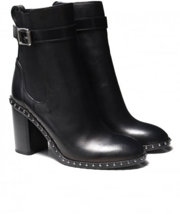 Leather Studded Romi Boots