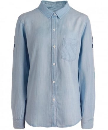 Embroidered Cheyanne Denim Shirt