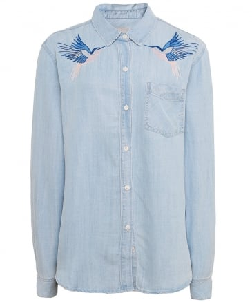 Ingrid Embroidered Hummingbird Shirt