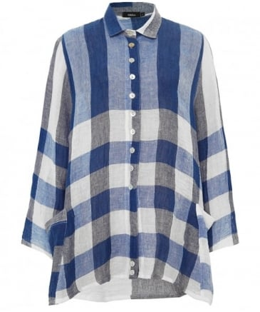 Linen Oversized Wally Check Shirt