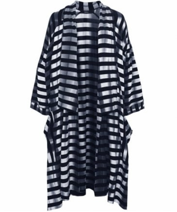 Obi Striped Jersey Coat