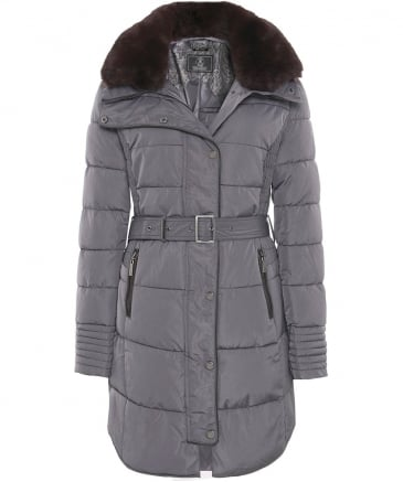 Blush Long Puffa Jacket