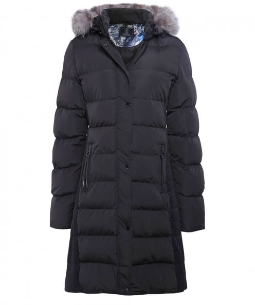 Rino and Pelle Cendy Fur Trim Puffer Coat