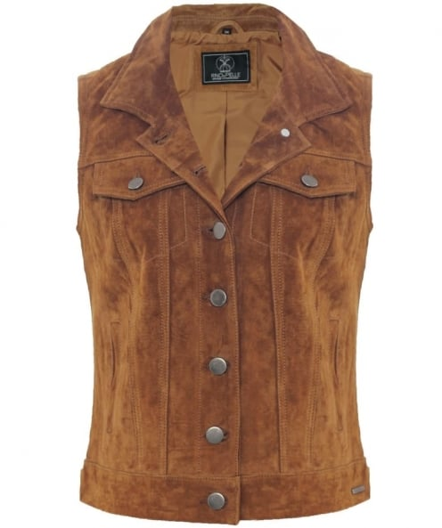 Rino and Pelle Coin Suede Waistcoat