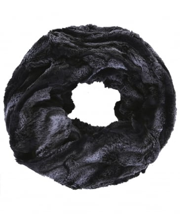 Faux Fur Bellis Double Loop Scarf