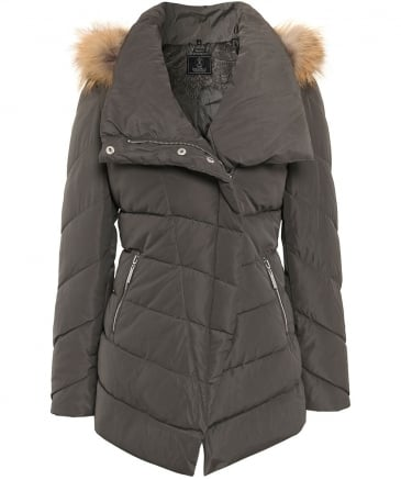 Fur Trim Calva Puffa Jacket