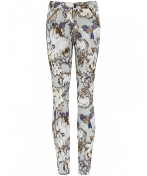 Sand Tiffany Printed Trousers