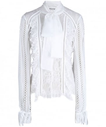 Panelled Lace Trim Top