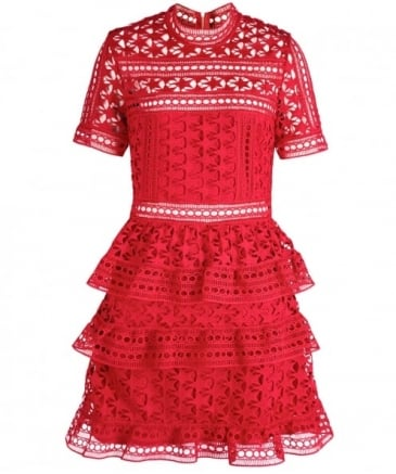 Star Lace Panelled Dress
