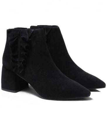 Suede Sloan Frill Detail Boots