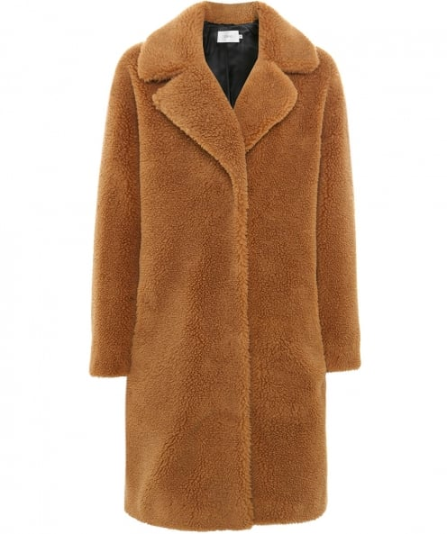 Stand Faux Shearling Camille Cocoon Coat