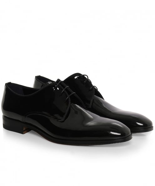 Stemar Patent Leather Scala Derby Shoes