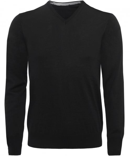 Stenstroms Extrafine Merino Wool V-Neck Jumper