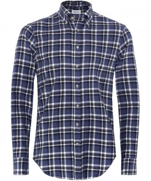 Stenstroms Fitted Check Flannel Shirt