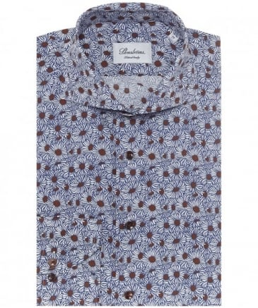 Fitted Daisy Print Shirt