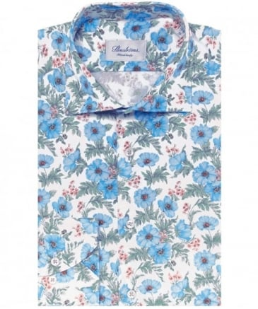 Fitted Flower Print Shirt