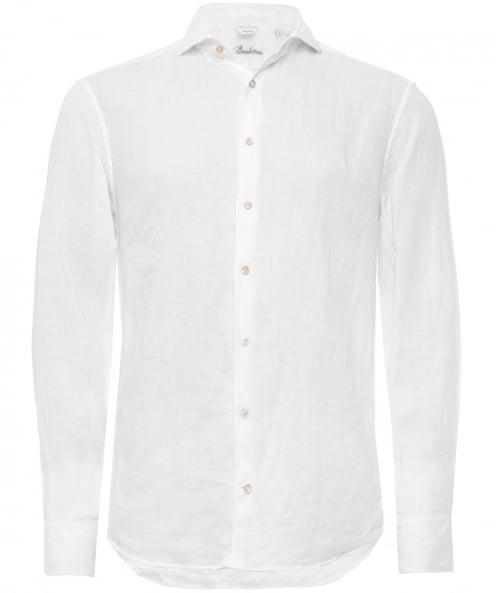 Stenstroms Fitted Plain Cotton Shirt