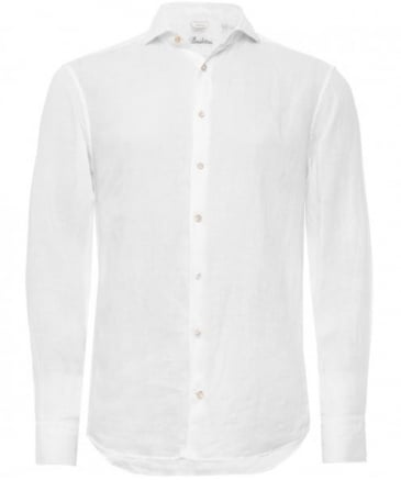Fitted Plain Cotton Shirt