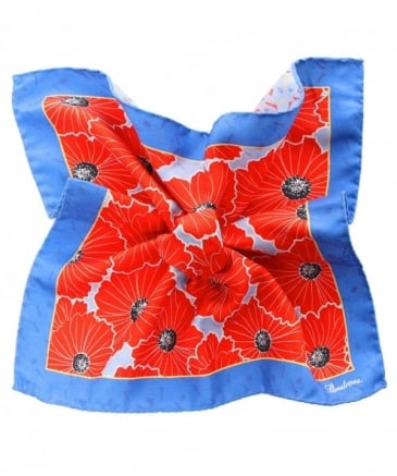 Flower Print Silk Handkerchief