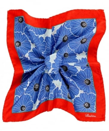 Silk Floral Print Pocket Square