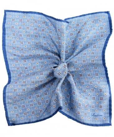 Silk Square Print Handkerchief