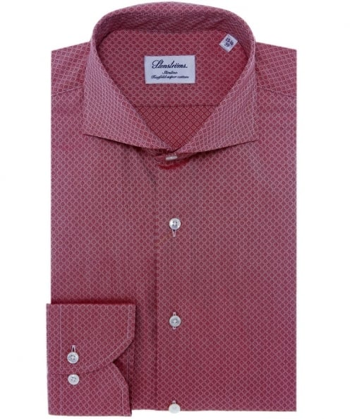 Stenstroms Slimline Printed Cotton Shirt