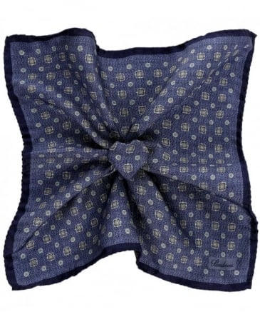 Square Print Silk Handkerchief