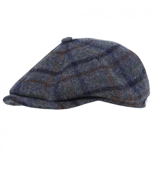 Stetson Hatteras Checked Wool Cap