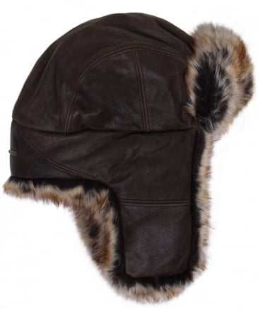 Leather Alaska Trapper Hat