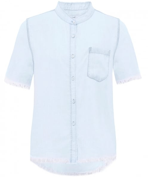 The Blue Shirt Shop Montauk Short Sleeve Denim Shirt