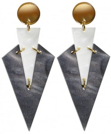Art Deco Droplet Earrings