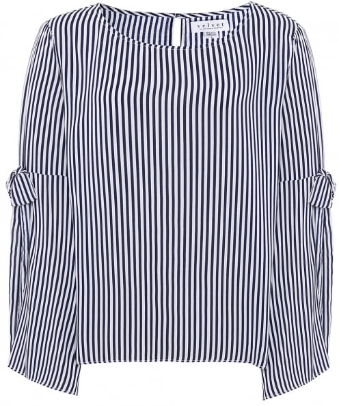 Velvet by Graham and Spencer Adia Stripe Blouse