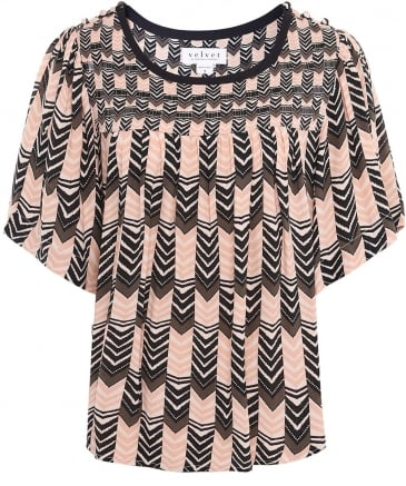 Printed Mazie Blouse