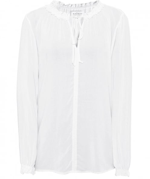 Velvet by Graham and Spencer Samantha Neck Tie Blouse