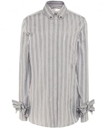 Striped Bow Cuff Shirt
