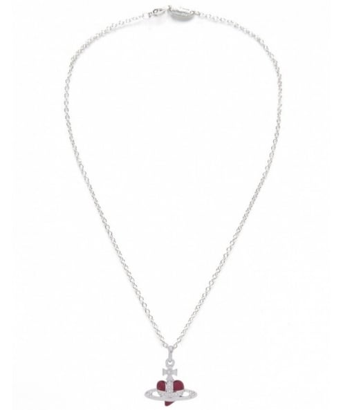 Vivienne Westwood Accessories Diamante Heart Necklace